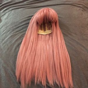 Cosplay Wig Women's Long Straight Hair Pink